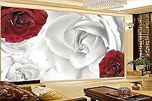 Fobostory3D Schlafzimmer Tapete Rot Weiß