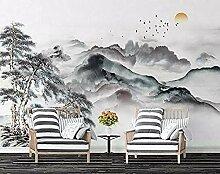 FobostoryTapete Chinese Ink Landschaft Pine