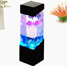 FOCUSPET Aquarium Quallen Wassertank Led Lichter Lampe entspannende Stimmung am be
