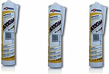 FÖRCH | 3 Stück | Maler-Acryl Silikon | weiss 310 ml Kartusche |Fensterverglasung, Abdichtung, Dehnfugen, Silikonfugen in Bad, Dusche, Sanitär, aussen | hitzbeständig, hochtemperatur| Dichtmasse