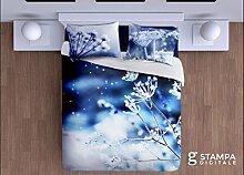 Förderung mit Shirt Unsere Staff gratis: Bettbezug Doppelbett Sterne von Eis–Feinste Baumwolle Digitaldruck–Produkt Italienisch