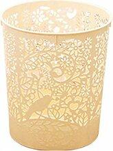 FOKOM 4St. Set Vintage Papierkorb Mülleimer Abfalleimer ohne Deckel--Farben Wahllos