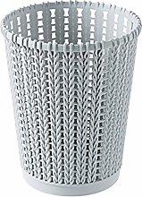 FOKOM Papierkorb Büro Mülleimer Abfalleimer Abfallbehälter Küchenabfalleimer Papierkorb Trash Bin-M