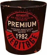 FOKOM Papierkorb, Vintage Retro Klassisch PU Leder