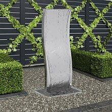 Foland Gartenbrunnen aus Edelstahl mit Pumpe
