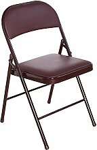 Folding chair Klappstuhl/Stuhl/Bürostuhl/Bürostuhl/Bürostuhl/Stuhl/Bürostuhl/Bürostuhl/Hocker/Stuhl/Sessel/Konferenzstuhl/Empfangstuhl/(Farbe : Braun)
