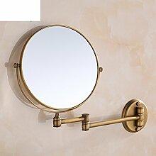 Folding Spiegel/Badezimmer Kosmetikspiegel Wand Stretching/Antike seitige Kosmetikspiegel-B