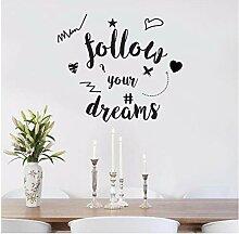 Folgen Sie Ihren Träumen Buchstaben Muster