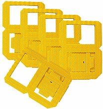 Folia 9814/5 - Laternenrohlinge, aus 3D Wellpappe, ca. 14 x 14 x 18, 5 cm, 5 Stück, gelb