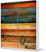 Folie IKEA Pax Schrank 236 cm Höhe - Schiebetür / Design Aufkleber Wooden / Dekorationselemen