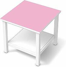 Folie Möbel für IKEA Hemnes Beistelltisch 55x55 cm | Möbelfolie Klebesticker Tapete Folie Möbel verschönern | Home & Style Esszimmer Home Deko | Farbe Pink 3