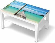 Folie Möbel für IKEA Lack Tisch 90x55 cm | Möbelfolie Klebesticker Tapete Folie Möbel verschönern | Home & Style Esszimmer Home Deko | Erholung Wellness Blue Water