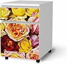 Folie Möbel für IKEA Malm Schubladenelement auf Rollen   Möbelfolie Klebesticker Tapete Folie Möbel verschönern   Home & Style Esszimmer Home Deko   Design Motiv Yellow Rose