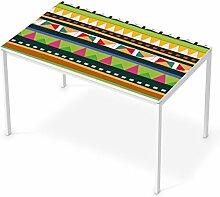 Folie Möbel für IKEA Melltorp Tisch 125x75 cm | Möbelfolie Klebesticker Tapete Folie Möbel verschönern | Home & Style Esszimmer Home Deko | Design Motiv Zigzag