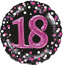 Folienballon * 18. Geburtstag * in Magenta mit