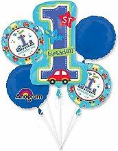 Folienballon-Bouquet -1. Geburtstag –All Aboard-