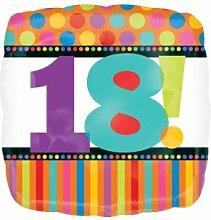 Folienballon Dots and Stripes 18. Geburtstag
