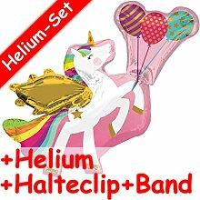 Folienballon * EINHORN MIT LUFTBALLONS * + HELIUM