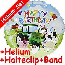 Folienballon * HAPPY BIRTHDAY * Tiere Bauernhof +
