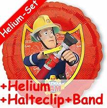 Folienballon Set * FEUERWEHRMANN SAM + HELIUM