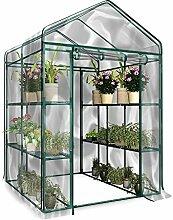 Foliengewächshaus, PVC Pflanzen