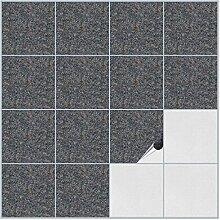 FoLIESEN Fliesenaufkleber für Bad und Küche - 15x15 cm - Dekor Granice - 80 Fliesensticker für Wandfliesen