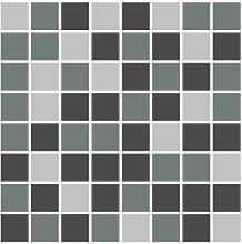 FoLIESEN - Fliesenaufkleber Mosaik - grau - 15cm x
