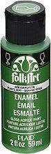 Folk Art Emaille-/Bratenspritze Farbe Dunkelgrün