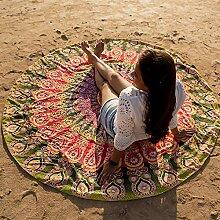 Folkulture Catsy Rundes Mandala Tapisseriehandtuch