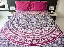 Folkulture Mandala Bettbezüge mit Kissenbezügen,