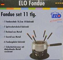 Fondue-Set, Edelstahl Topf mit Zubehör 11-teilig,