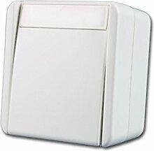 fontana Schalter 2-polig weiß, 250V~/10A, AP, IP44