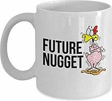 Food Lovers Tassen, Future Nugget - Weiße