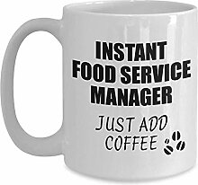 Food Service Manager Mug Instant addieren gerade