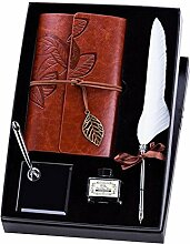FOONEE Feder Stift-Set mit Tagebuch Notebook,