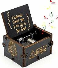 FOONEE Harry Potter Musik Box, Geschnitzt aus Holz