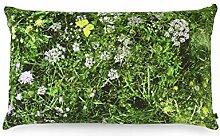 FOONKA Buchweizen Kissen ALMWIESE 50x30 cm,
