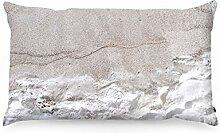 FOONKA Buchweizen Kissen Sandstrand 50x30 cm,