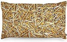 FOONKA Buchweizen Kissen Stroh 50x30 cm,