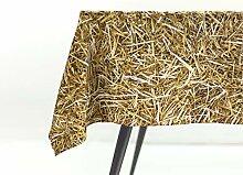 FOONKA Tischdecke, 140x180 cm, 100% Baumwolle,