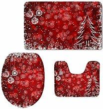 For U Designs Badezimmerteppich-Set mit
