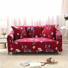 FORCHEER Sofabezug Elastischer Sofaüberwurf Blumen-Muster Sofa Cover Stretch Hussen für Sofa/Couch in Verschiedenen Größen( 4-sitzer, 235-300cm, Muster #1 )