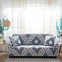 FORCHEER Sofabezug Elastischer Sofaüberwurf Blumen-Muster Sofa Cover Stretch Hussen für Sofa/Couch in Verschiedenen Größen( 2-Sitzer, 145-185cm, Muster #12 )