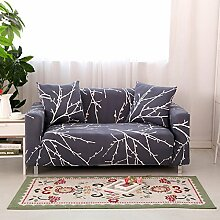 FORCHEER Sofabezug Elastischer Sofaüberwurf Blumen-Muster Sofa Cover Stretch Hussen für Sofa/Couch in Verschiedenen Größen( 3-sitzer, 190-230cm, Muster #2 )