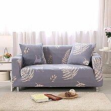 FORCHEER Sofabezug Elastischer Sofaüberwurf Blumen-Muster Sofa Cover Stretch Hussen für Sofa/Couch in Verschiedenen Größen( 2-Sitzer, 145-185cm, Muster #6 )