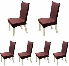 FORCHEER Stuhlbezüge Abnehmbar Waschbar Esszimmer