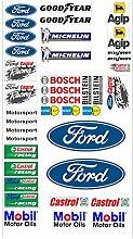 Ford Logo Autoaufkleber Sponsoren Marken Aufkleber