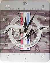 Ford Mustang Horse Blech Wanduhr Stabil NEU 26x20cm U564
