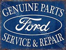 Ford Originalersatzteile Kundendienst & Reparatur Vintage Garage Metall/Stahl Wandschild - 20 x 30 cm