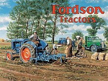 Fordson Tractors by Trevor Mitchell - Large Metal Sign